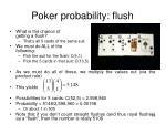 poker probability flush