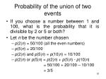 probability of the union of two events2