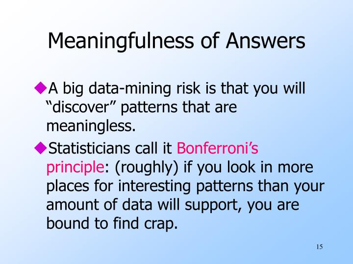 Meaningfulness of Answers