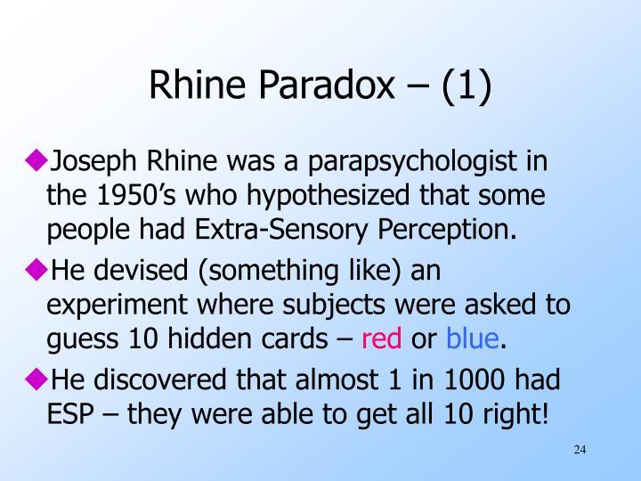 Rhine Paradox – (1)