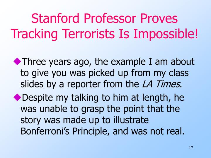 Stanford Professor Proves Tracking Terrorists Is Impossible!