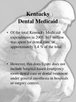 kentucky dental medicaid