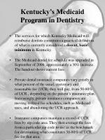 kentucky s medicaid program in dentistry