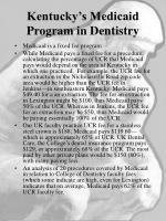 kentucky s medicaid program in dentistry1