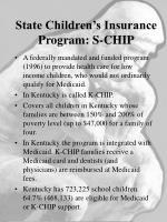state children s insurance program s chip