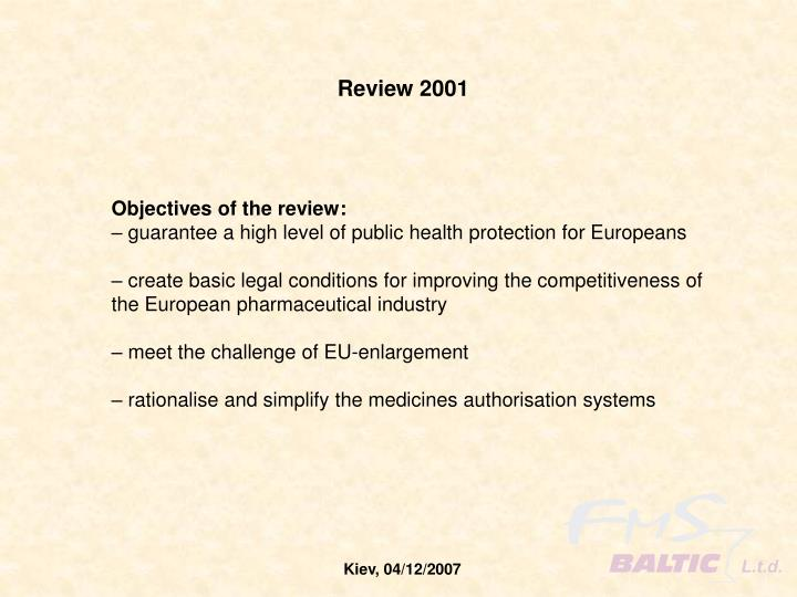 Review 2001