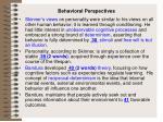 behavioral perspectives
