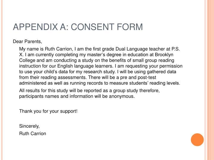 APPENDIX A: CONSENT FORM