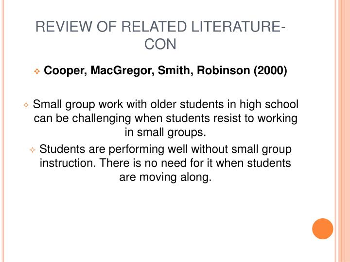 REVIEW OF RELATED LITERATURE- CON