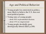 age and political behavior