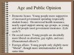 age and public opinion
