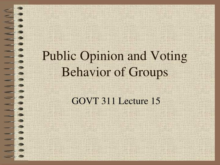 public opinion and voting behavior of groups n.