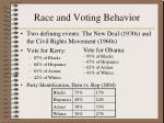 race and voting behavior