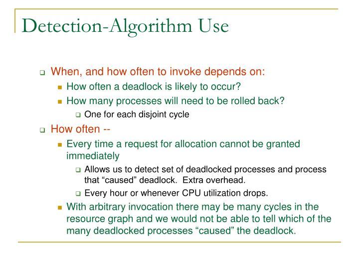 Detection-Algorithm Use