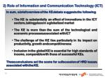 2 role of information and communication technology ict