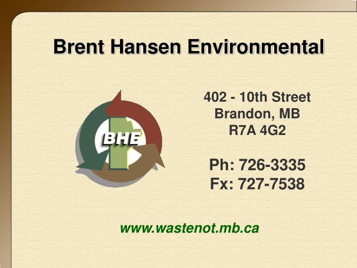 Brent Hansen Environmental