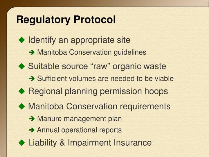 Regulatory Protocol