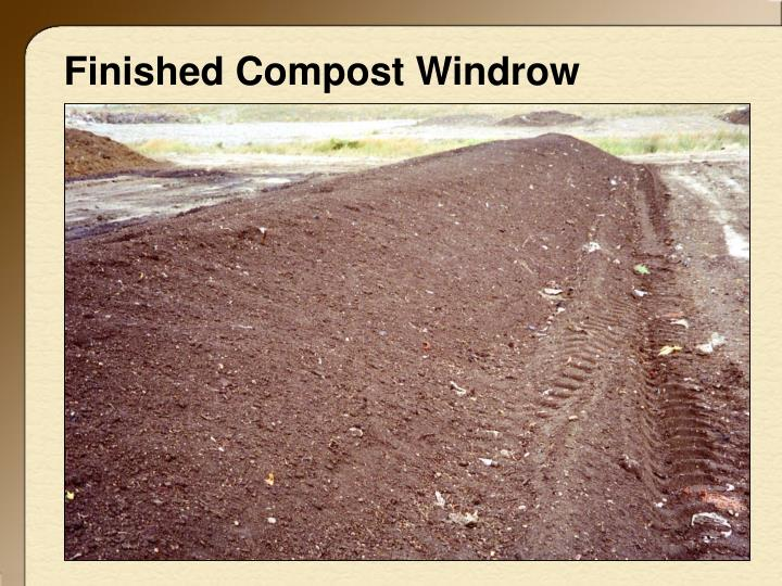 Finished Compost Windrow