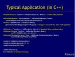 typical application in c