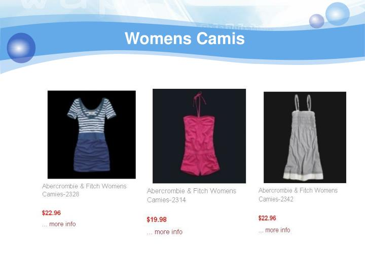 Womens camis