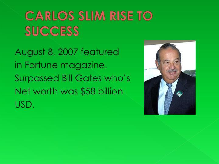 CARLOS SLIM RISE TO SUCCESS