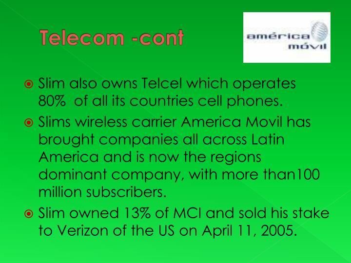 Telecom -cont