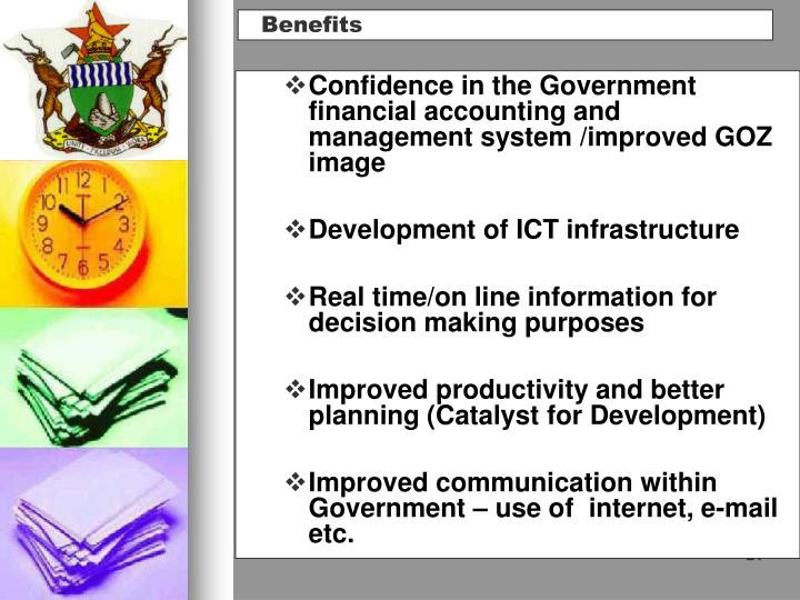 Confidence in the Government  financial accounting and management system /improved GOZ image