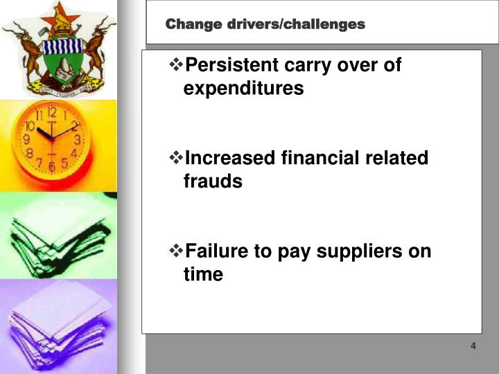 Persistent carry over of expenditures