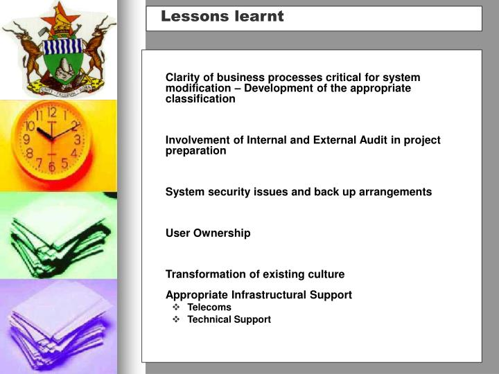 Clarity of business processes critical for system modification – Development of the appropriate classification