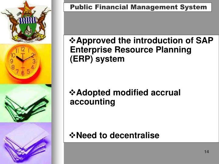 Approved the introduction of SAP Enterprise Resource Planning (ERP) system