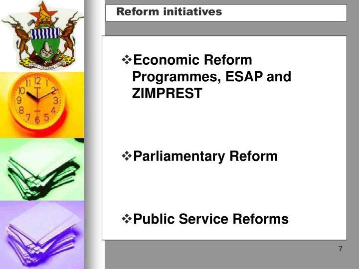 Economic Reform Programmes, ESAP and ZIMPREST