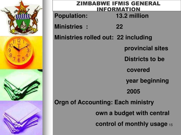 ZIMBABWE IFMIS GENERAL INFORMATION
