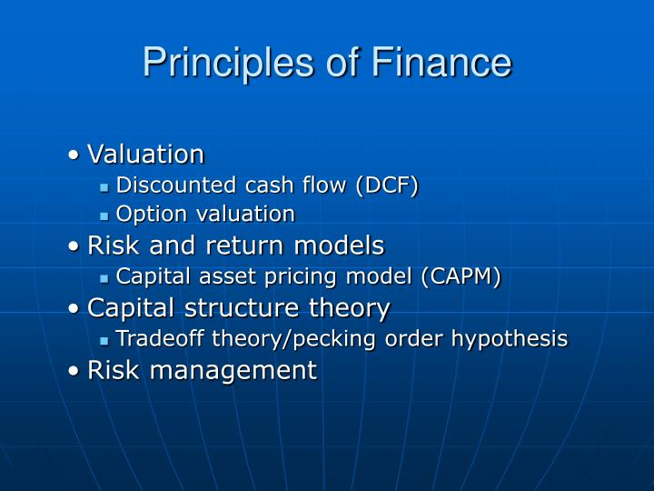 the cash flow return and risk In finance, discounted cash flow (dcf) analysis is a method of valuing a project, company, or asset using the concepts of the time value of money all future cash flows are estimated and discounted by using cost of capital to give their present values (pvs.