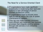 the need for a service oriented client