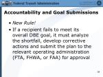 accountability and goal submissions