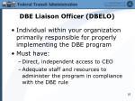 dbe liaison officer dbelo
