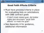 good faith efforts criteria