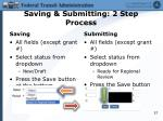 saving submitting 2 step process