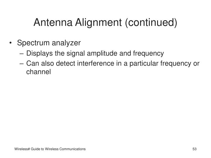 Antenna Alignment (continued)