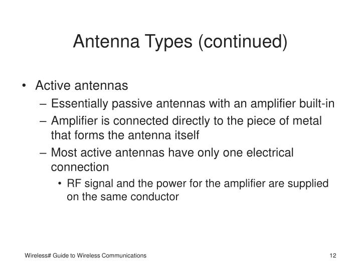 Antenna Types (continued)