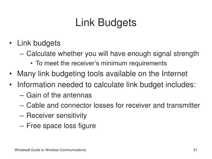 Link Budgets