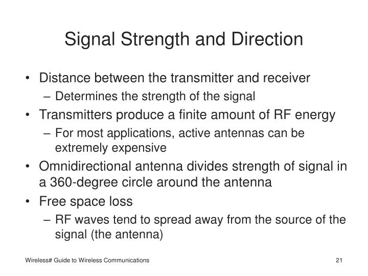 Signal Strength and Direction