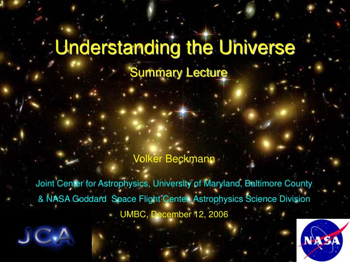 understanding the universe summary lecture n.