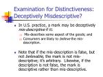examination for distinctiveness deceptively misdescriptive