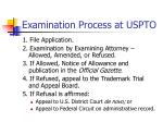 examination process at uspto