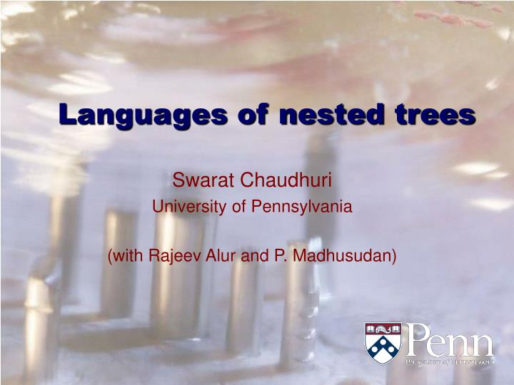 languages of nested trees n.