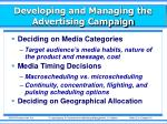 developing and managing the advertising campaign5