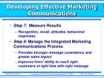 developing effective marketing communications11