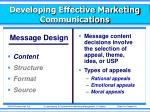developing effective marketing communications2