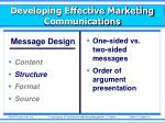 developing effective marketing communications3